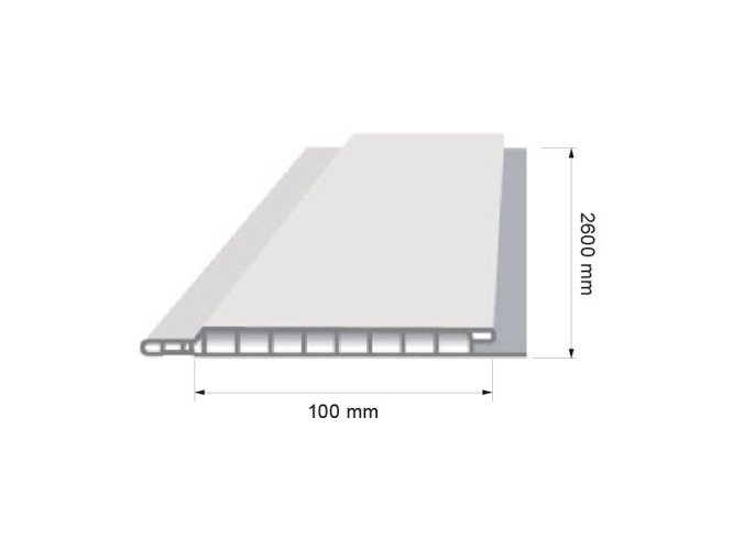 Panel Pcv 105 Hard Jasny Brąz Dekoracyjny Wewnętrzny Podbitkowy Długość 260 Lub 600 Mb